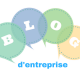 blog d'entreprise logo bleu vert et blanc