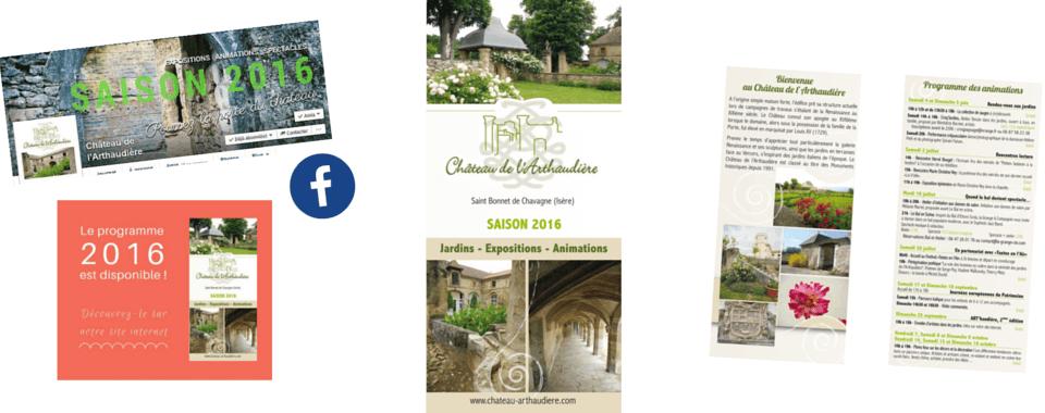 Réalisation de l'identité graphique & réseaux sociaux de château de l'arthaudière