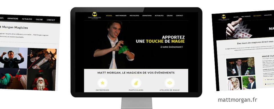 réalisation du site internet vitrine de Matt Morgan