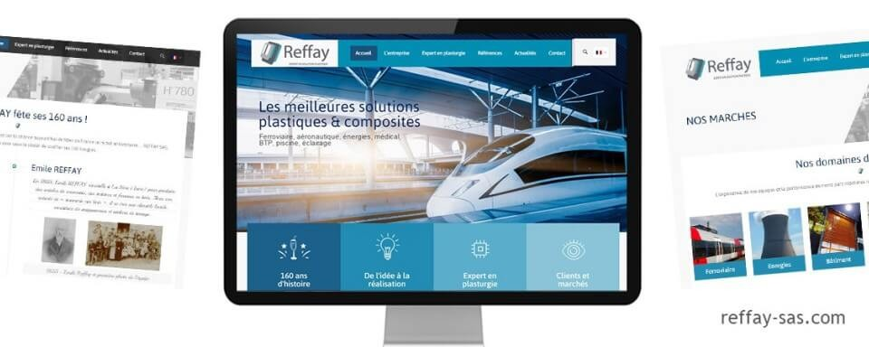 Réalisation du site internet vitrine multilingue de Reffay