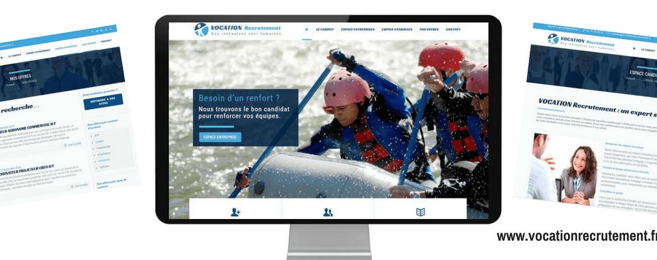Création siite internet Vocation Recrutement_ réalisation Boostacom - agence web et communication