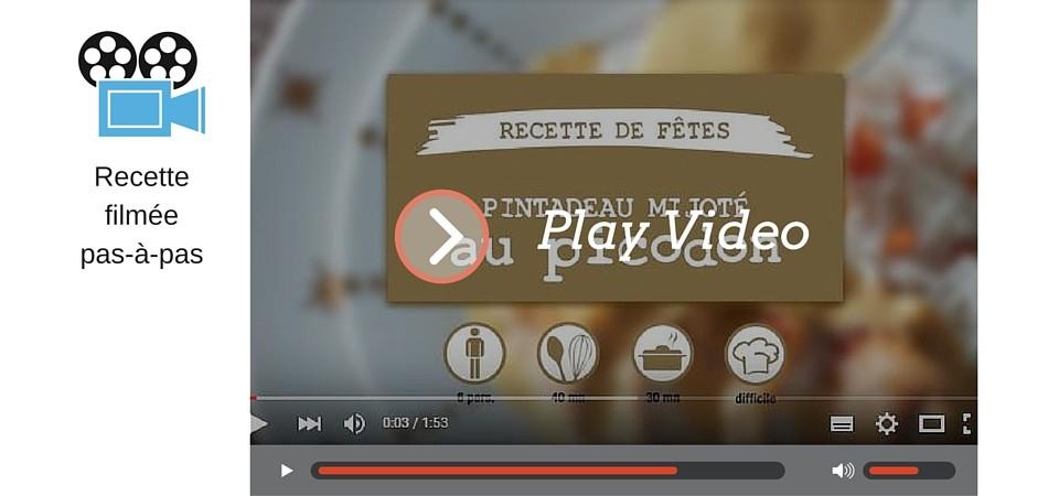 Vidéo recette de fêtes : pintadeau mijoté au picodon