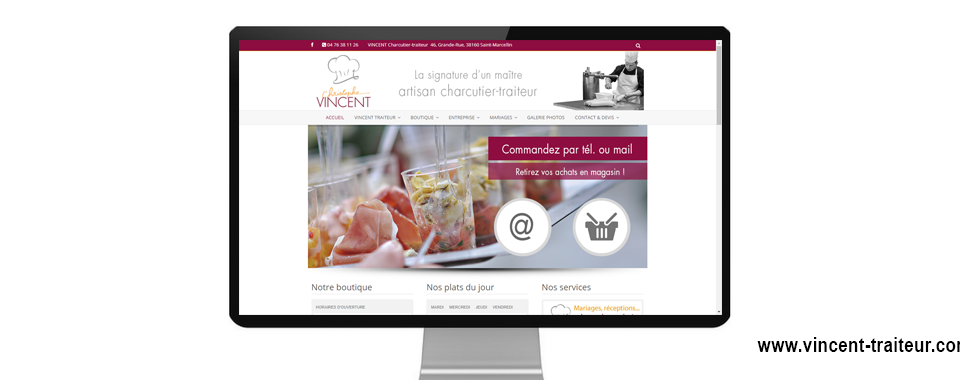 Site internet de vincent traiteur