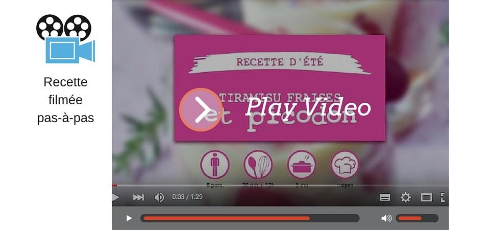 Vidéo recette d'été : tiramisu fraises et picodon