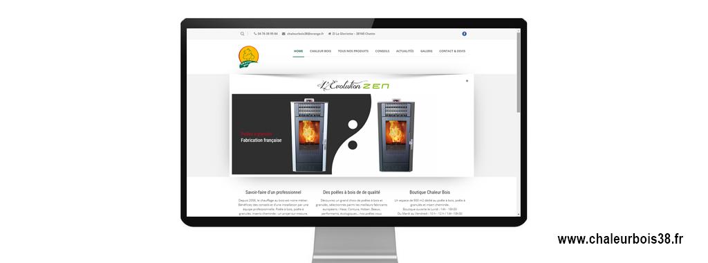 Réalisation du site internet vitrine de chaleur bois