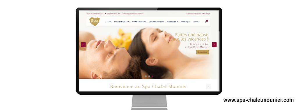 Réalisation du site internet vitrine + e-commerce de SPA Chalet Mounier