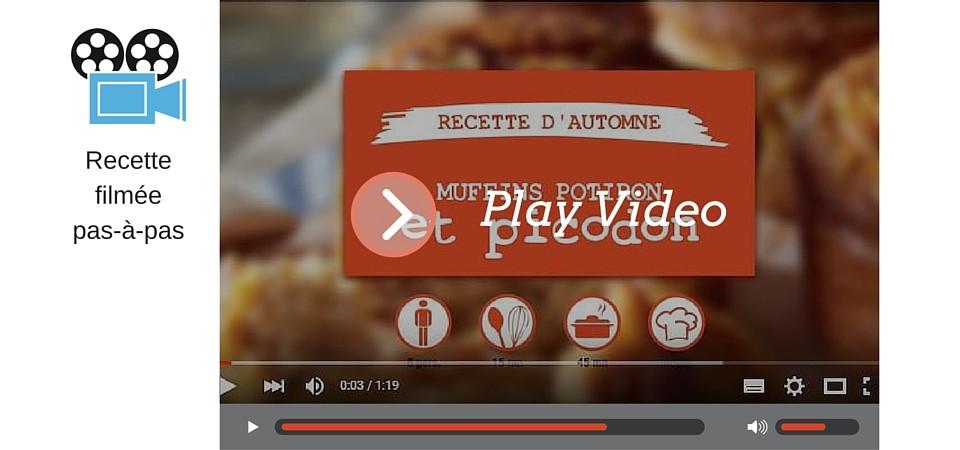 Vidéo recette d'automne : muffins potiron et picodon