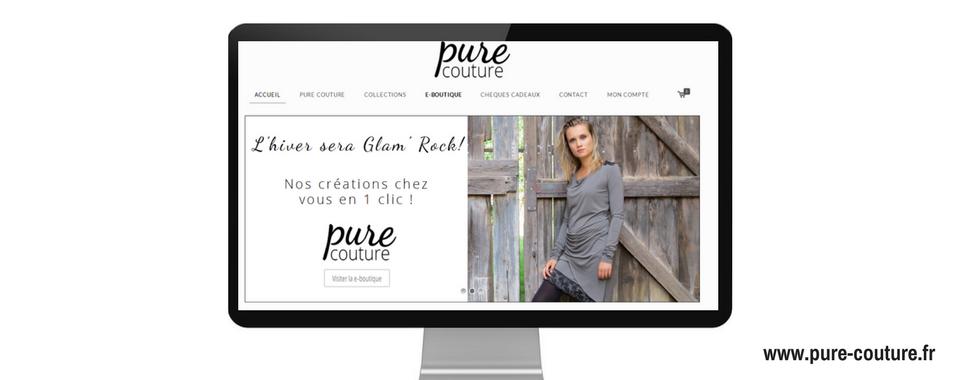 Réalisation du site internet vitrine et e-commerce de pure couture