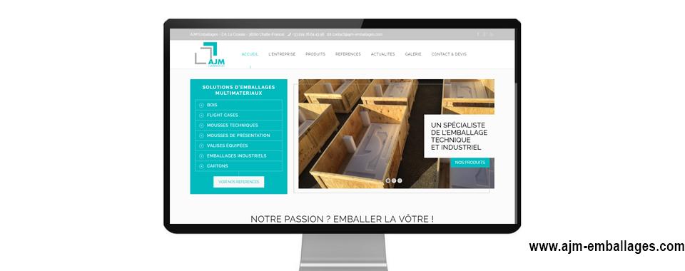 Réalisation du site internet vitrine de AJM Emballages