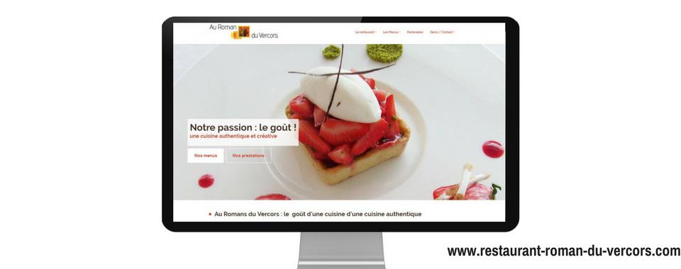 home page du site Au Romans du Vercors, réalisé par Boostacom
