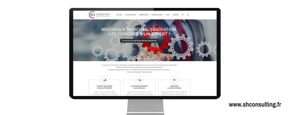 site SH Consulting, réalisé par Boostacom