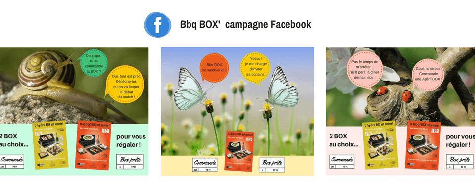 Visuel réalisés par Boostacom pour la campagne Facebook de l'Apéri Box