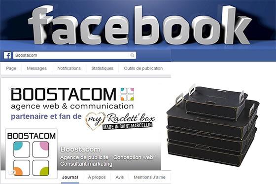 Page Facebook de l'agence Boostacom