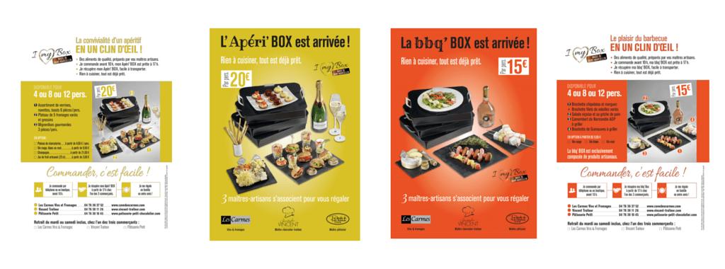 Création graphique des affiches BOX d'été