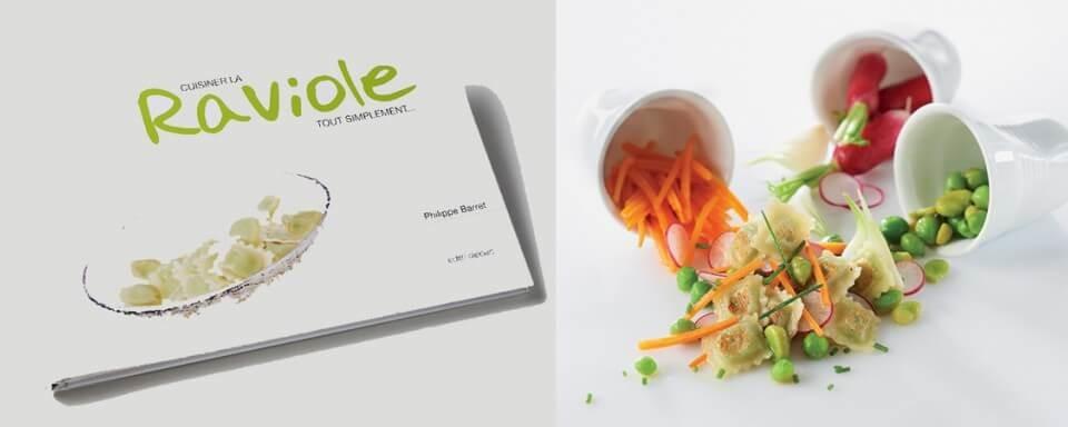 Réalisation d'un livre de cuisine sur la raviole