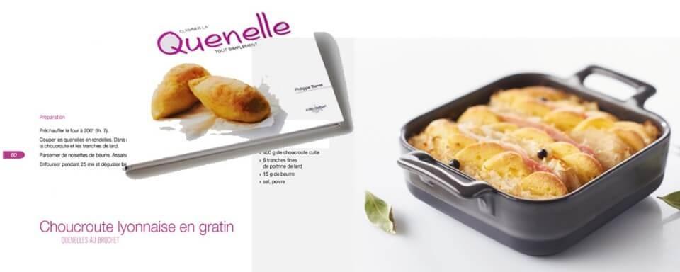 Réalisation d'un livre de cuisine : comment cuisiner la quenelle ?