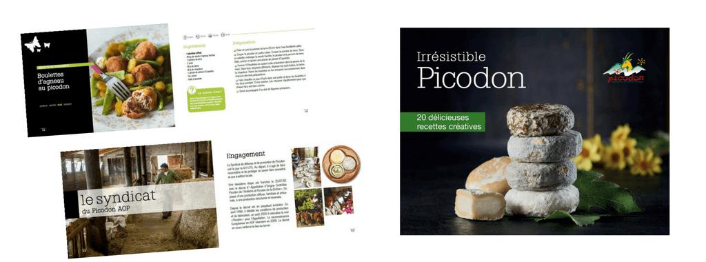 Couverture du Livre Picodon, réalisé par Boostacom agence de communication