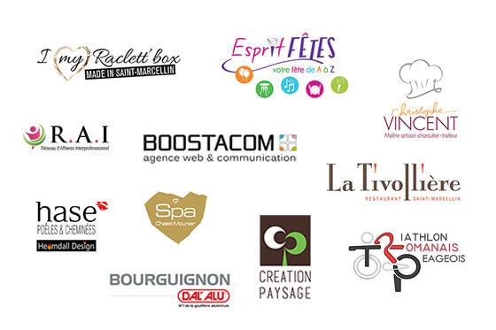 Logos réalisés par Boostacom, agence web et communication