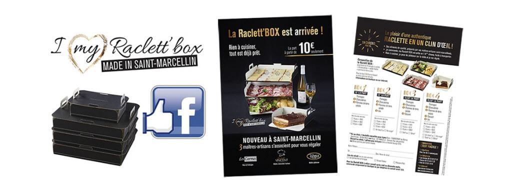 Réalisation de l'identité graphique & réseaux sociaux de Raclett'Box