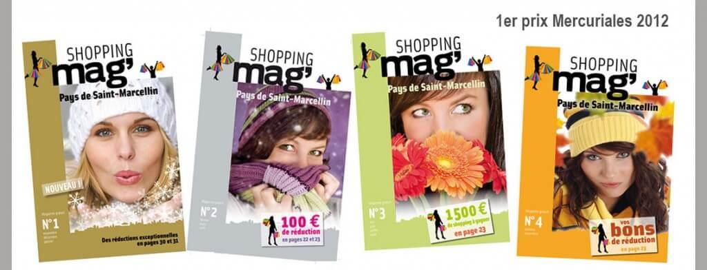 Réalisation d'un magazine trimestriel : SHOPPING'MAG