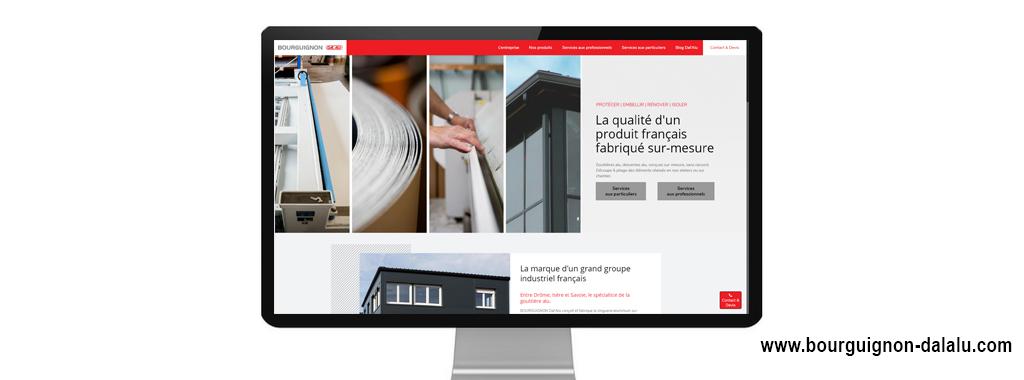 Site internet de Bourguignon Dal'alu, réalisé par Boostacom