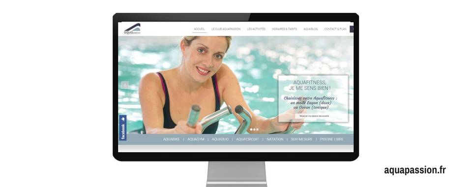 Site internet d'AquaPassion, créé par l'agence web Boostacom