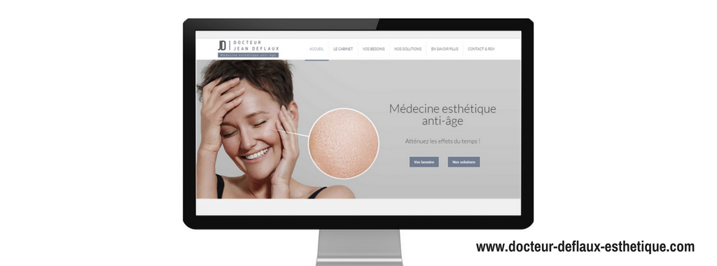 Site internet de Docteur Deflaux Esthétique, créé par l'agence web Boostacom
