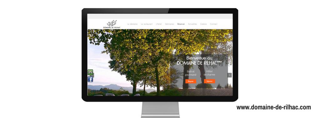 Site internet de Domaine de Rilhac, créé par l'agence web Boostacom