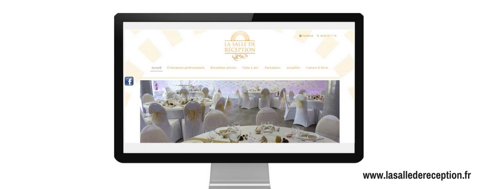 Site internet de La Salle de Réception réalisé par Boostacom