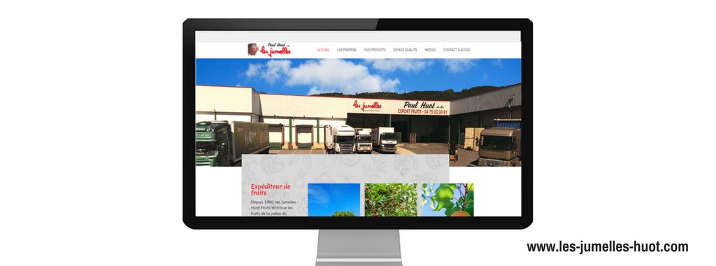 Site internet de Les jumelles Huot; réalisé par l'agence web Boostacom