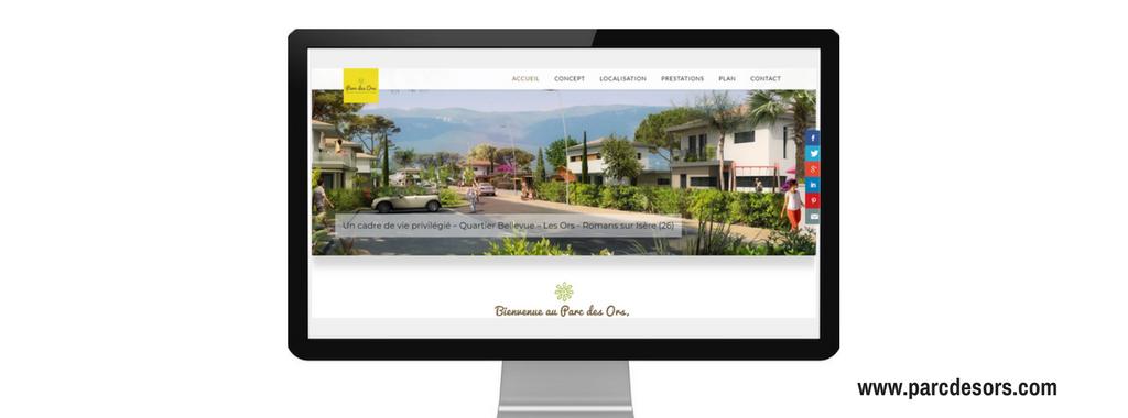 Site internet de Parc des Ors à Romans, projet immobilier par Acadie, réalisé par Boostacom