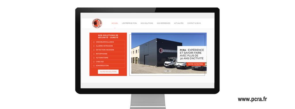 Site internet PCRA, réalisé par Boostacom
