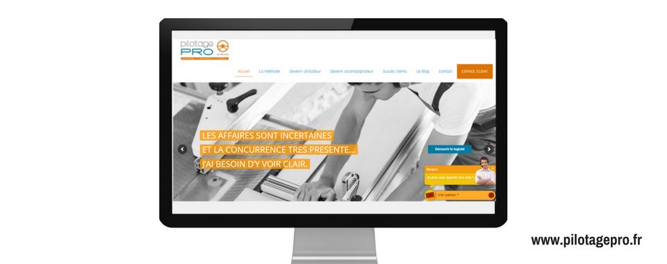 Site internet de Pilotage Pro, réalisé par Boostacom