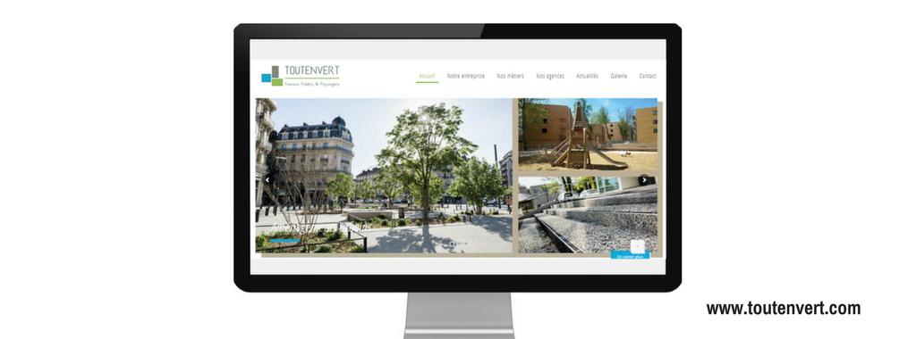 Site internet de Toutenvert, réalisé par Boostacom