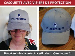 BROD ART - Exemple de réalisation - casquette avec visière de protection